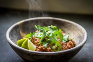Vegan cowboy beans: a plant-based meal for the crock pot (Low fat, oil free)