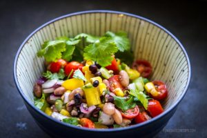 Cowboy caviar: A savory, sweet, and spicy vegan bean salad
