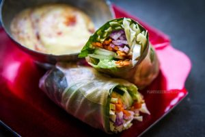 California Fusion Plant Based Spring roll: Vegan wrap with avocado and vegetables