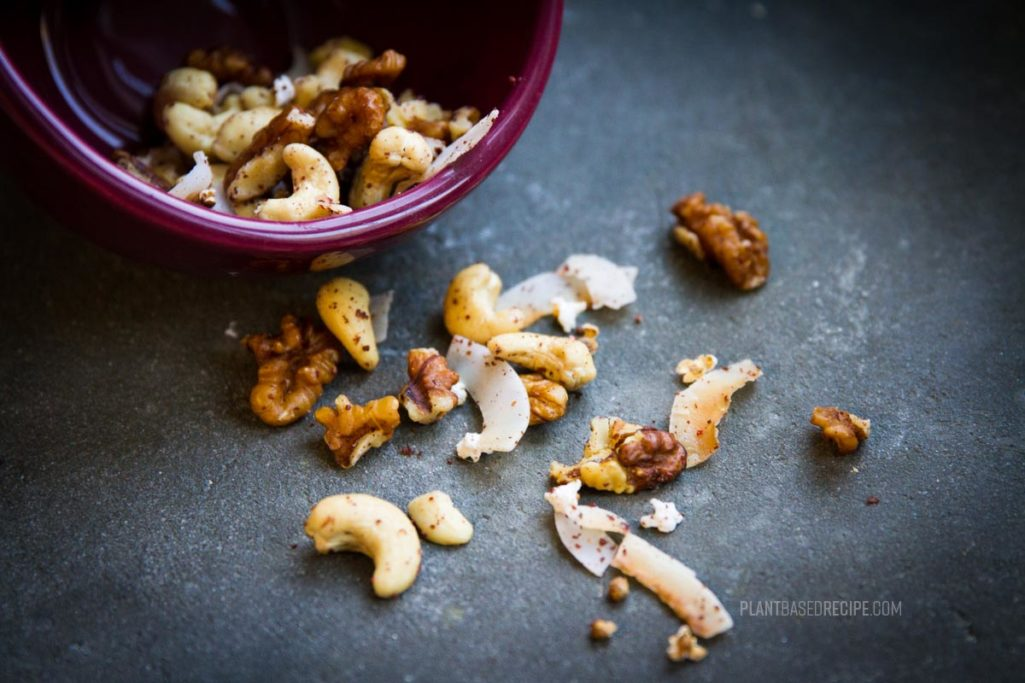Three sorghum trail mix snacks to share: Spicy, Citrusy, and Sweet