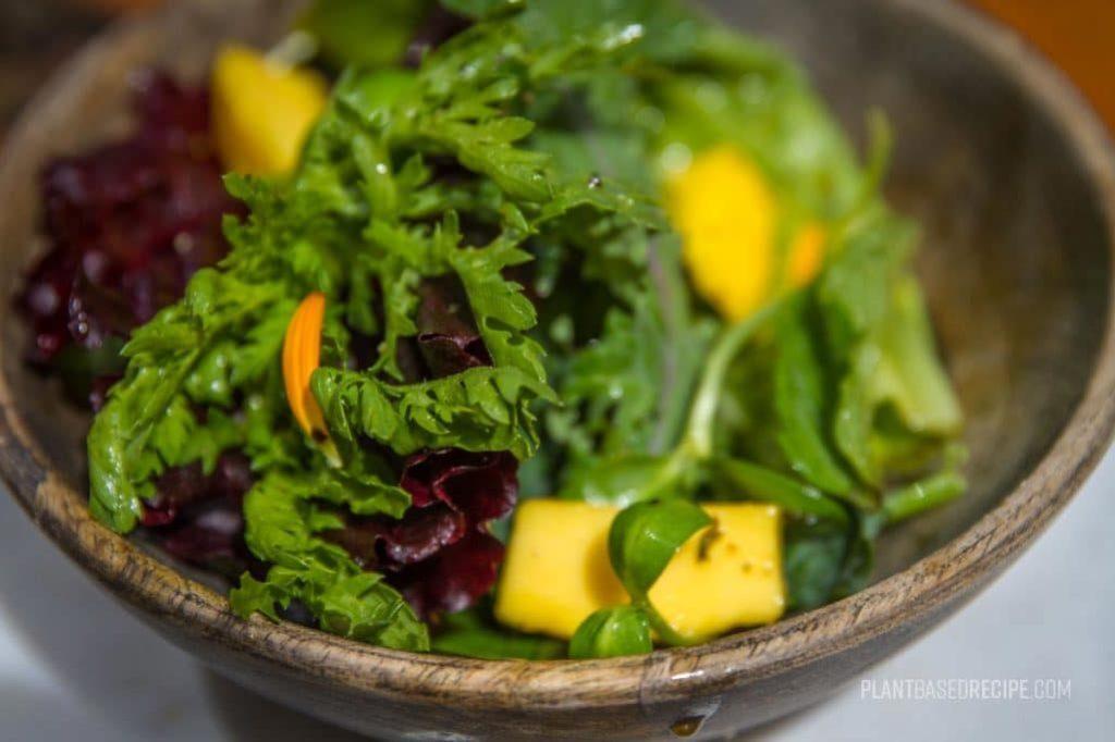 side salad, no oil.