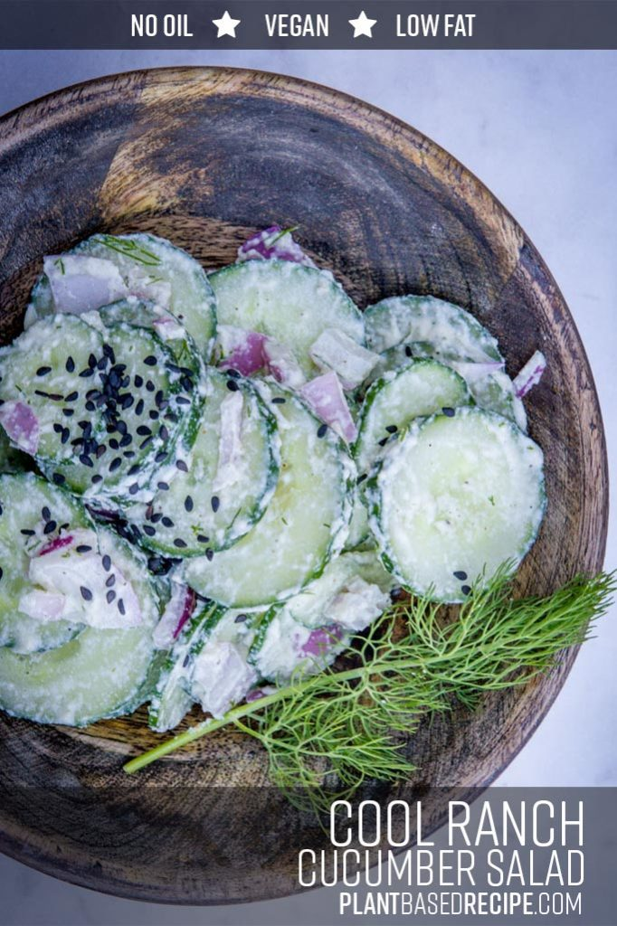 Cool Ranch dressed cucumber salad