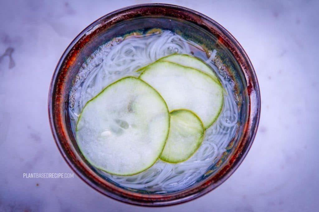 Cucumber and noodle sunomono salad recipe (Low Fat, Vegan) – Updated recipe!
