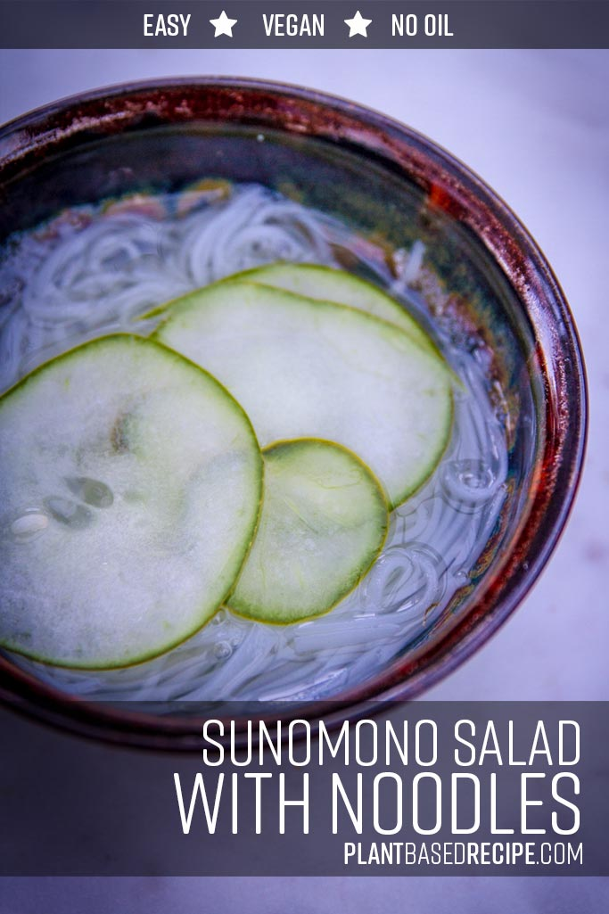 Noodle and cucumber salad in sweet vinegar broth recipe.