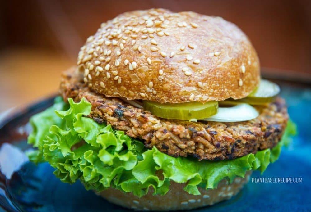 Bean and Rice vegan burger patty