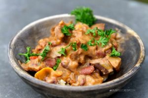 Spicy and Creamy Chipotle Bean and Potato Stew (Low Fat, Oil Free, Vegan)
