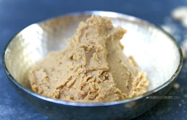 A almost fat-free peanut butter that is also thick and creamy.