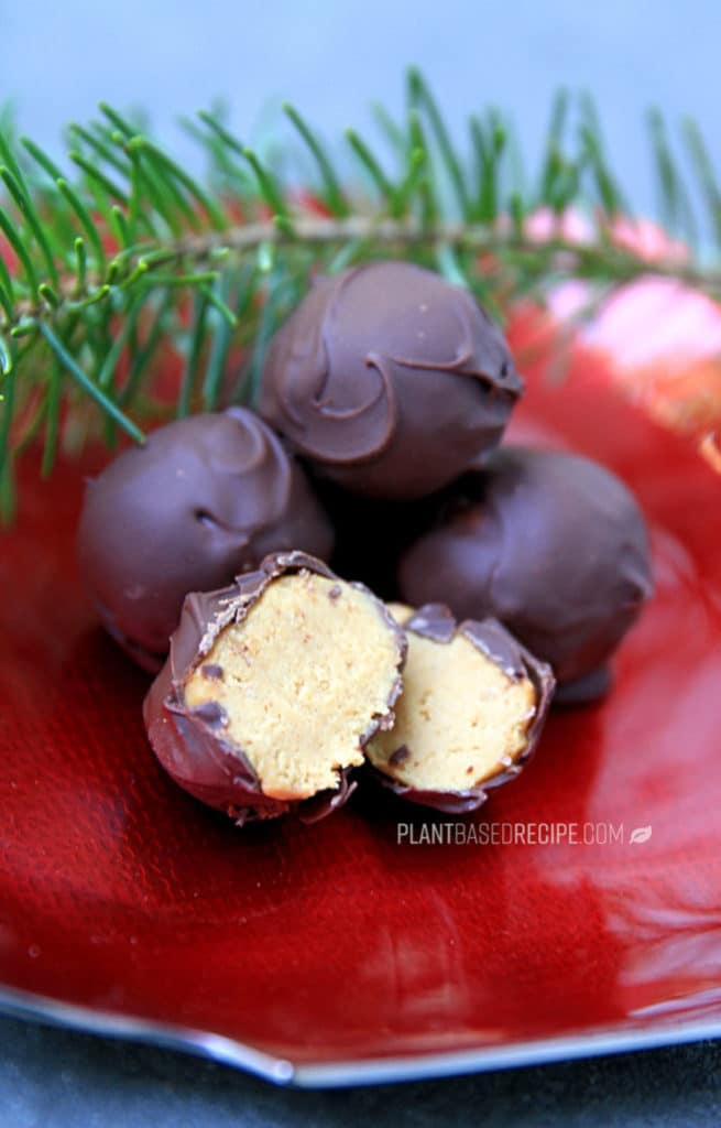 Chocolate covered peanut butter candies