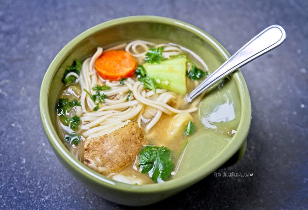 Winter vegetable noodle soup.