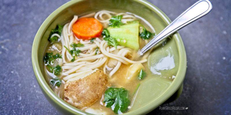 Winter vegetable noodle soup.