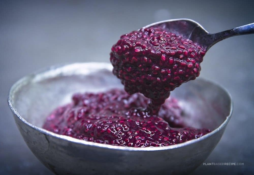 Vegan chia seed jam.