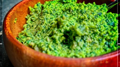 Oil free Vegan Kale Pesto recipe (SOS-Free option, sunflower seed base)